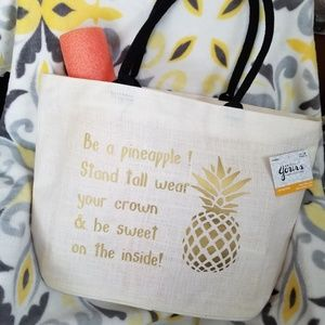 New  Be A 🍍  XL Beach\ Travel\  Shopping Tote Bag